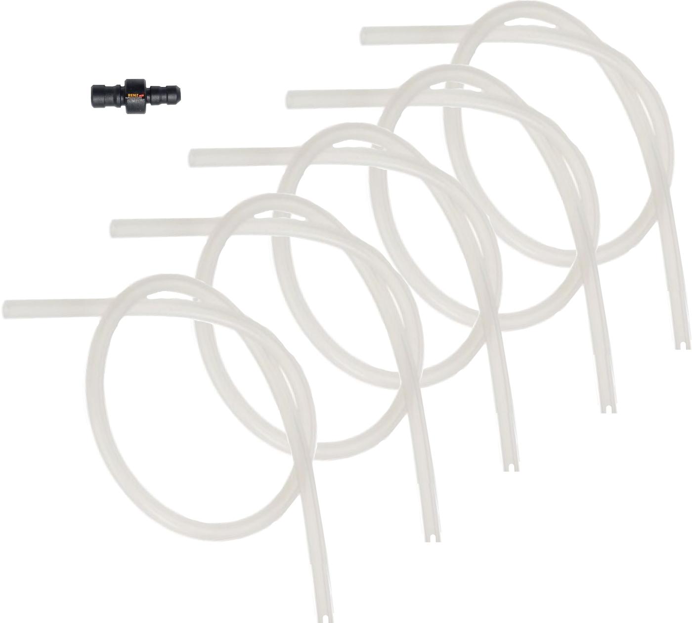 5x Milchschlauch + 1x Anschlussnippel - Set kompatibel mit Jura Geräten für Milchschaum Aufschäumer