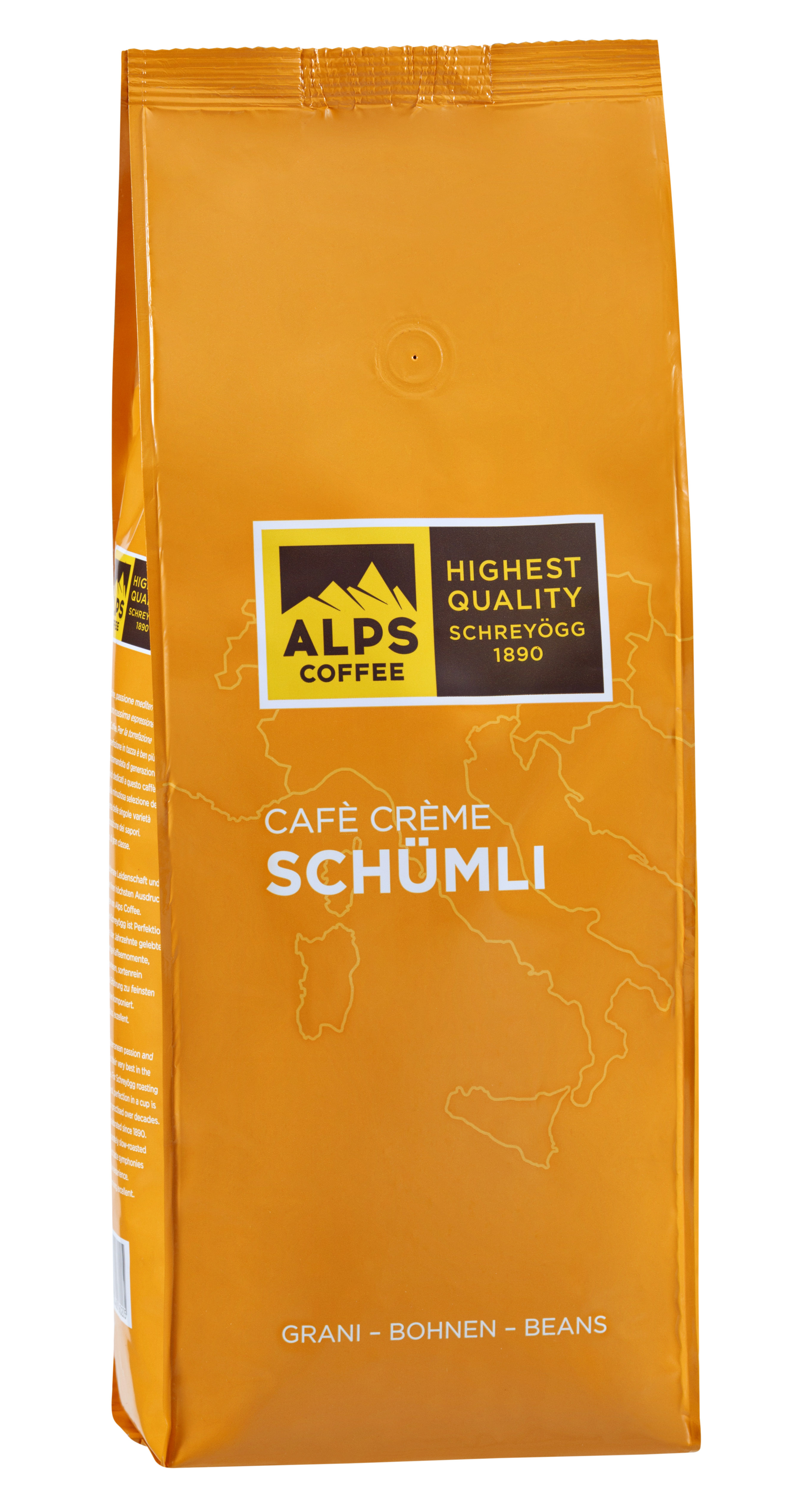 ALPS Coffee - Schreyögg Schümli Cafe Creme Espresso Kaffee 1000 Gramm Bohnen